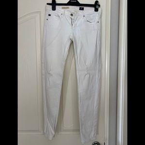 AG Brand- (Stevie style) White, skinny jeans